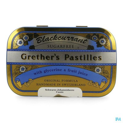 Grether's Pastilles Blackcurrant Ss Past 110g