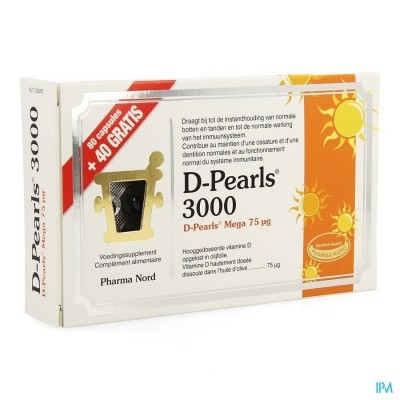 D-pearls 3000 Caps 80 + Caps 40 Promo Pack