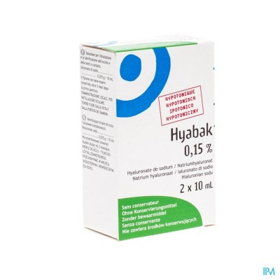 Hyabak 0,15% Duopack Nf Fl 2x10ml Rempl.2879617