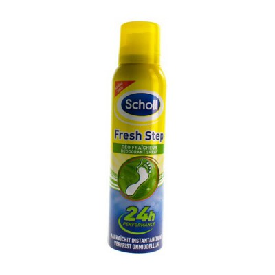 SCHOLL FRESH STEP DEO FRAICHEUR SPRAY 150ML