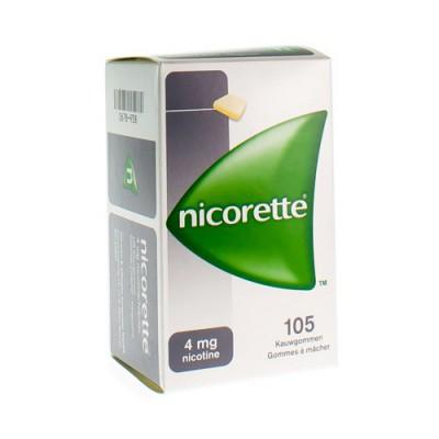 NICORETTE GOMME MACH 105X4MG