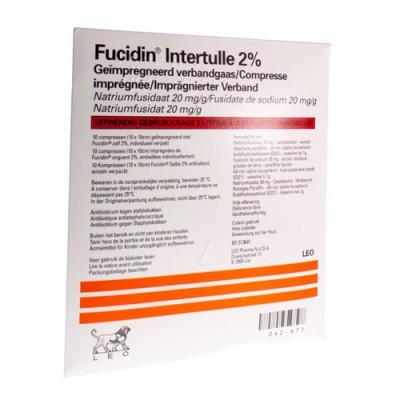 FUCIDIN INTERTULLE COMPRES 10X10CM