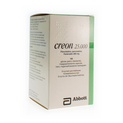 CREON 25000 CAPS MAAGSAPRESIST HARD 100 X 300 MG