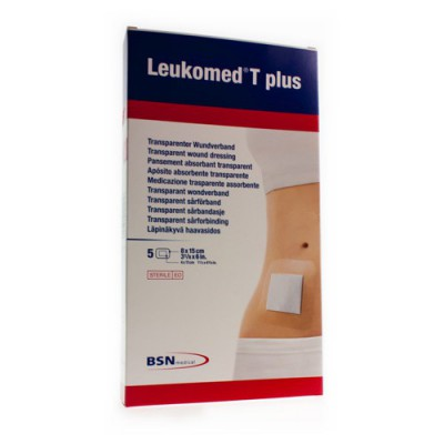 LEUKOMED T PLUS VERB STER 8,0CMX15CM 5 7238208