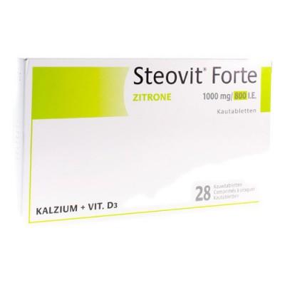 STEOVIT FORTE 1000MG/800UI COMP CROQ 28
