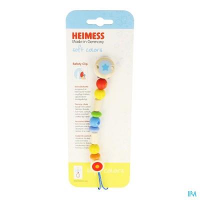 HEIMESS ATTACHE SUCETTE BOIS ARC DE CIEL 736840