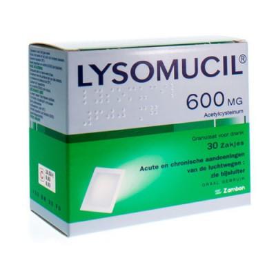 LYSOMUCIL 600 GRAN SACH 30 X 600 MG